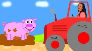 Farm Animal Sounds Song - Driving My Tractor