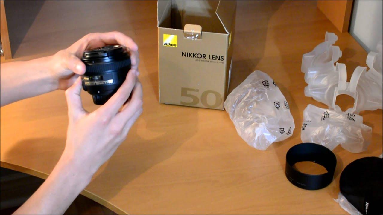Unboxing The Nikon Af S Nikkor 50mm F 14g With Sample Photos Youtube 18d Lens