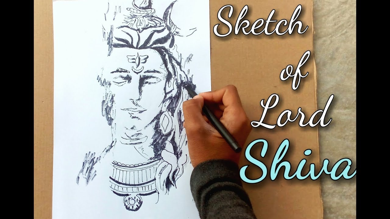 Best sketch of lord shiva part 1 my drawings best video for drawing lovers