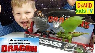 ★Dragons 66599 Дрэгонс Набор Беззубик и Иккинг против дракона toys unboxing
