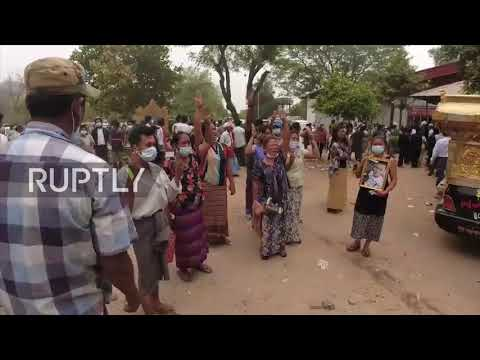 Myanmar: Mandalay locals mourn protester as military crackdown kills at least 100