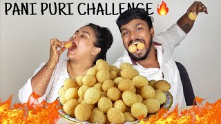 Pani Puri Challenge with Jaanu 🔥 ( Got Stomach upset 😭 )