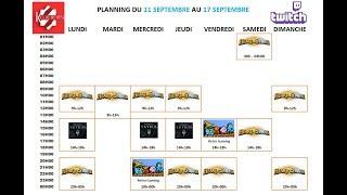 Planning de la semaine du 10 au 17 Septembre