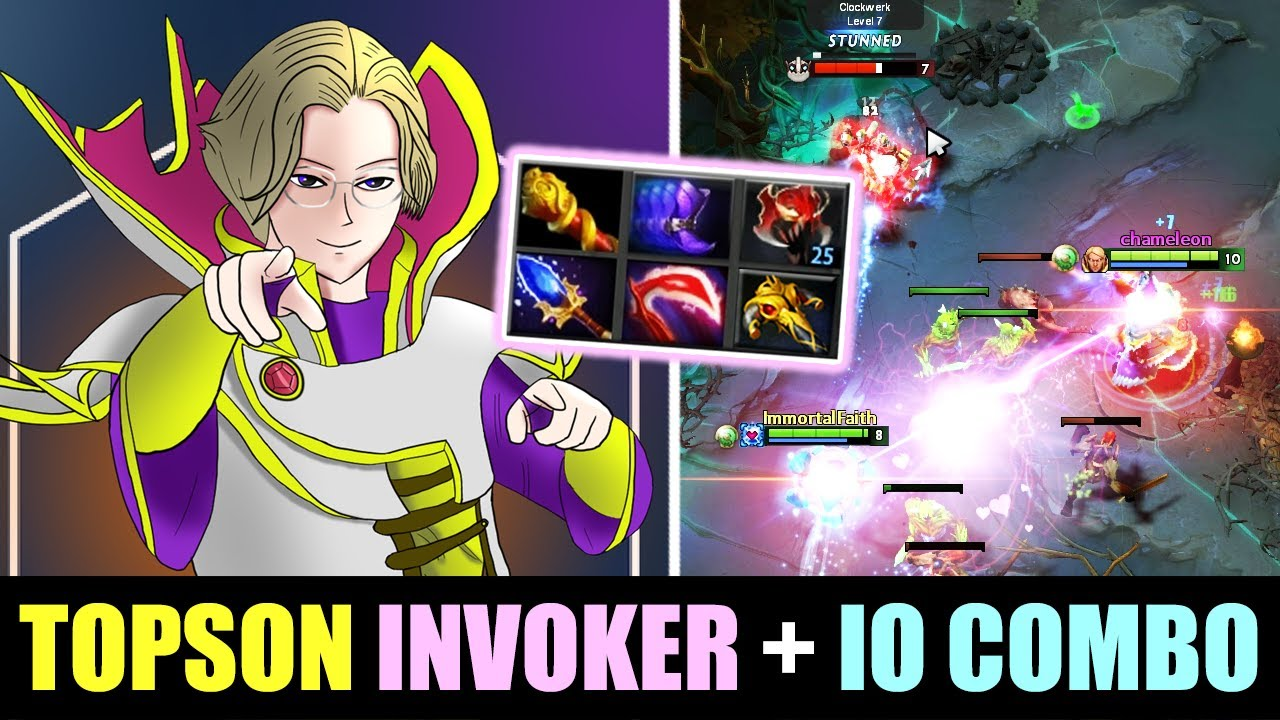 Topson INVOKER Battle Type BUILD + IO - This is crazy!