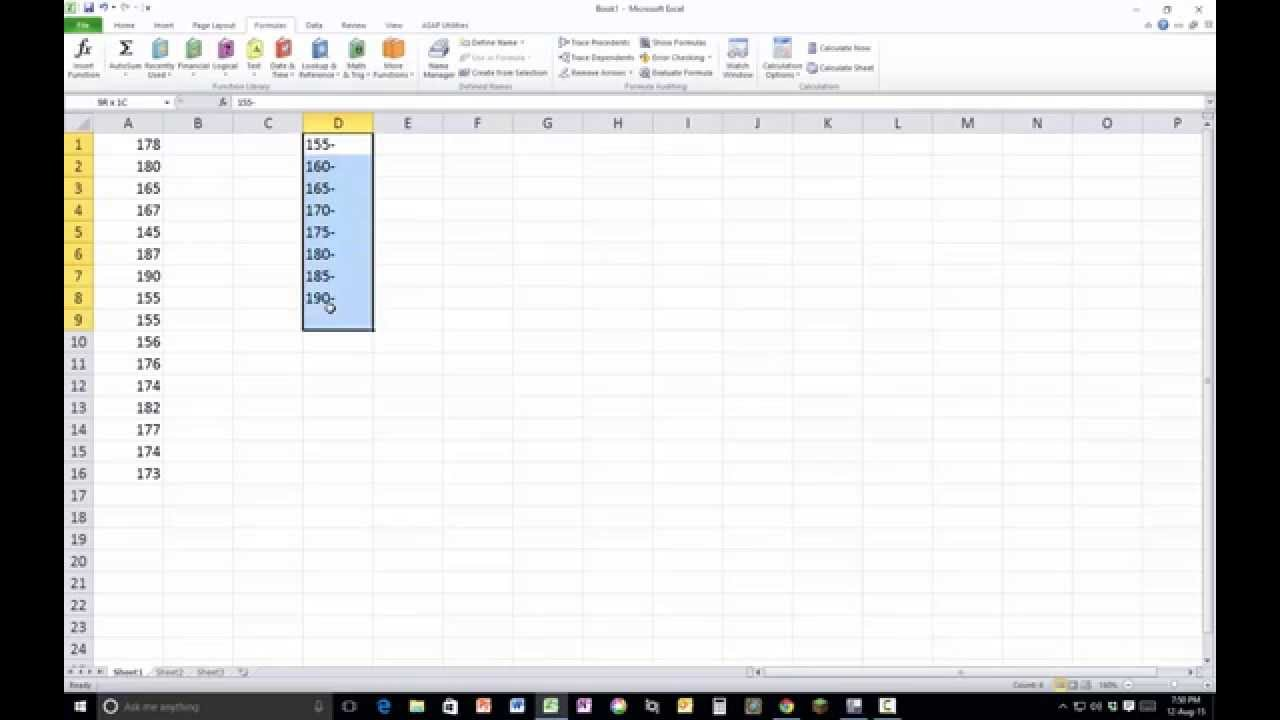 excel how to make histogram