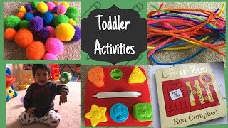 DIY Activities - 1-2 years old II Fun activities II Toddler Activities II HappyHomeHappyLife