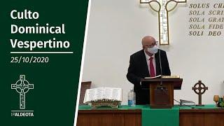 Culto Vespertino (25/10/2020) - Rev. Edenildo Fonteles - Lucas 9. 51-62