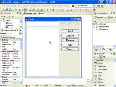Delphi Programming Tutorial #12 - TListBox Part 1/2 - YouTube