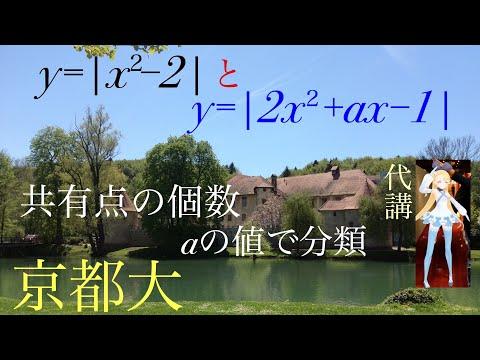 京都大 絶対値のついた二次関数の共有点  東大数学科院卒 杉山聡