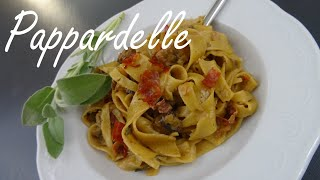 Pappardelle Pasta with Mushrooms and Prosciutto - Pasta Recipes