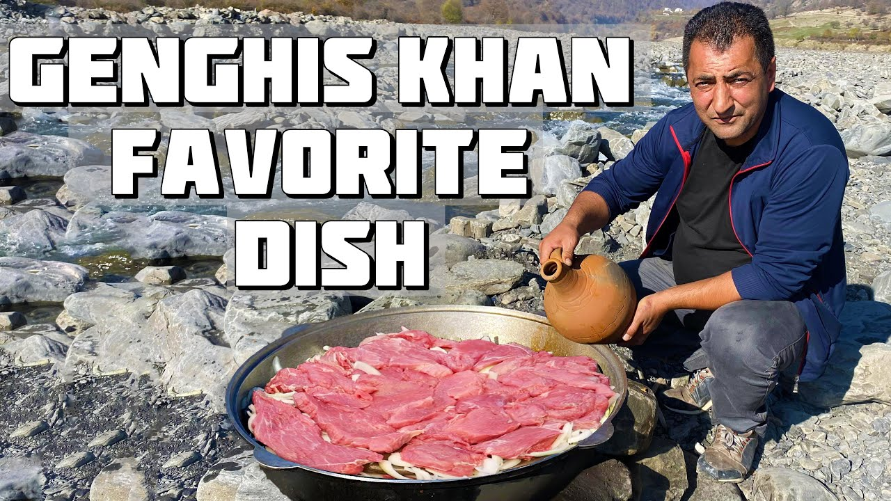 YOU'VE NEVER SEEN SUCH A RECIPE! GENGHIS KHAN FAVORITE DISH | MEAT COOKED IN STONES 🥩
