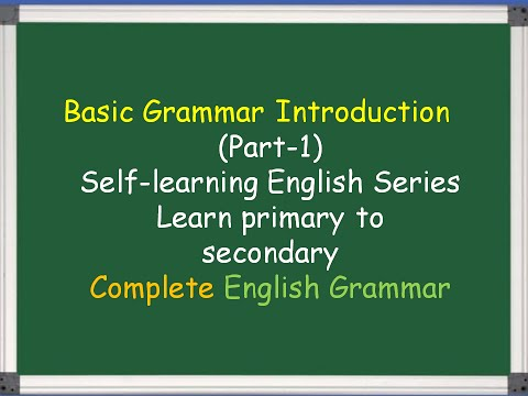 Basic English Grammar Definitions  For All Students
