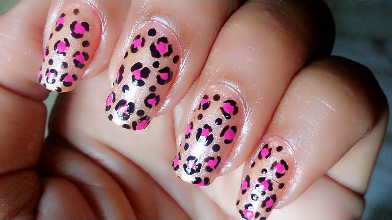 Easy leopard nail art for beginners at home tutorial ...