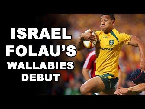 Israel Folau's Wallabies Debut