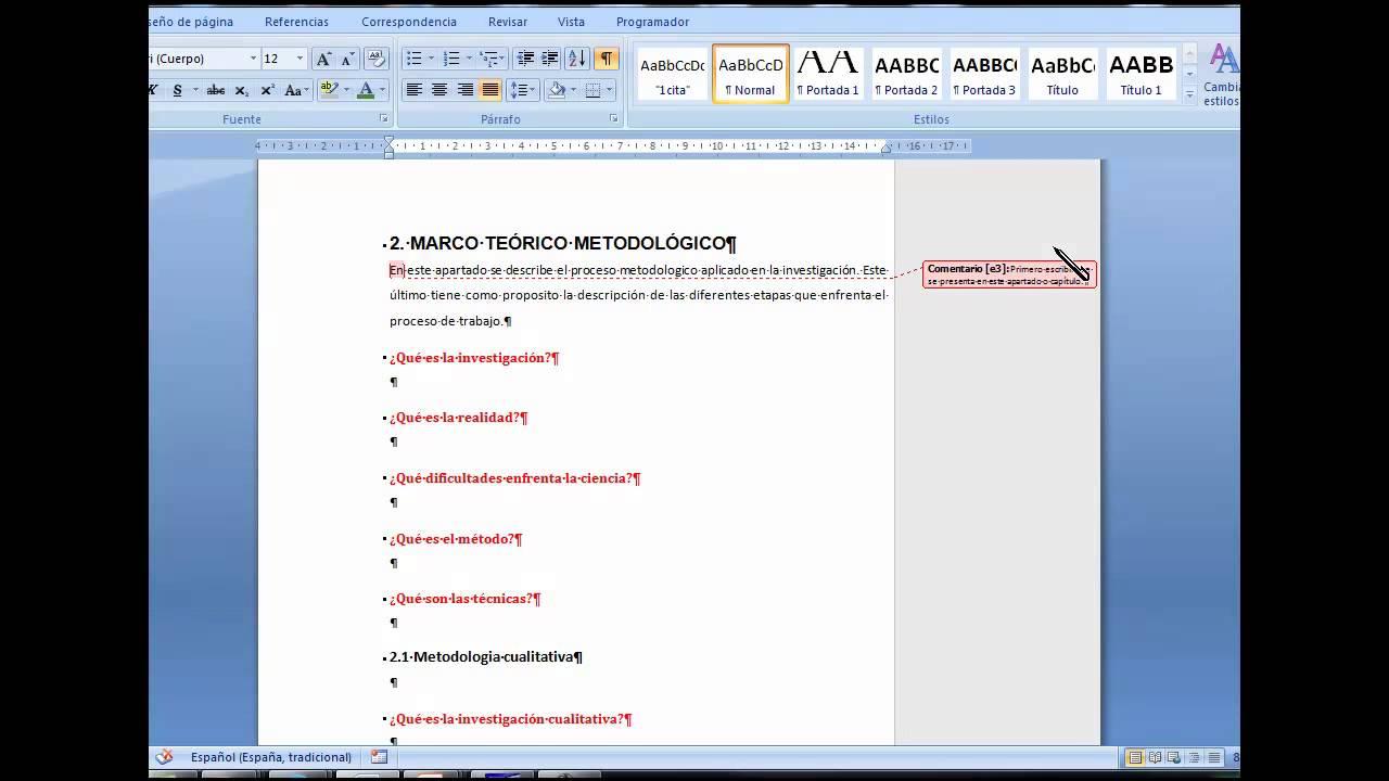 Como hacer un marco metodologico - YouTube