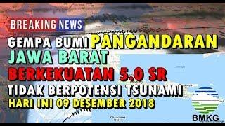 Download Video GEMPA BUMI PANGANDARAN JABAR BERKEKUATAN 5.0 SR HARI INI 09 DESEMBER 2018 TIDAK BERPOTENSI TSUNAMI MP3 3GP MP4