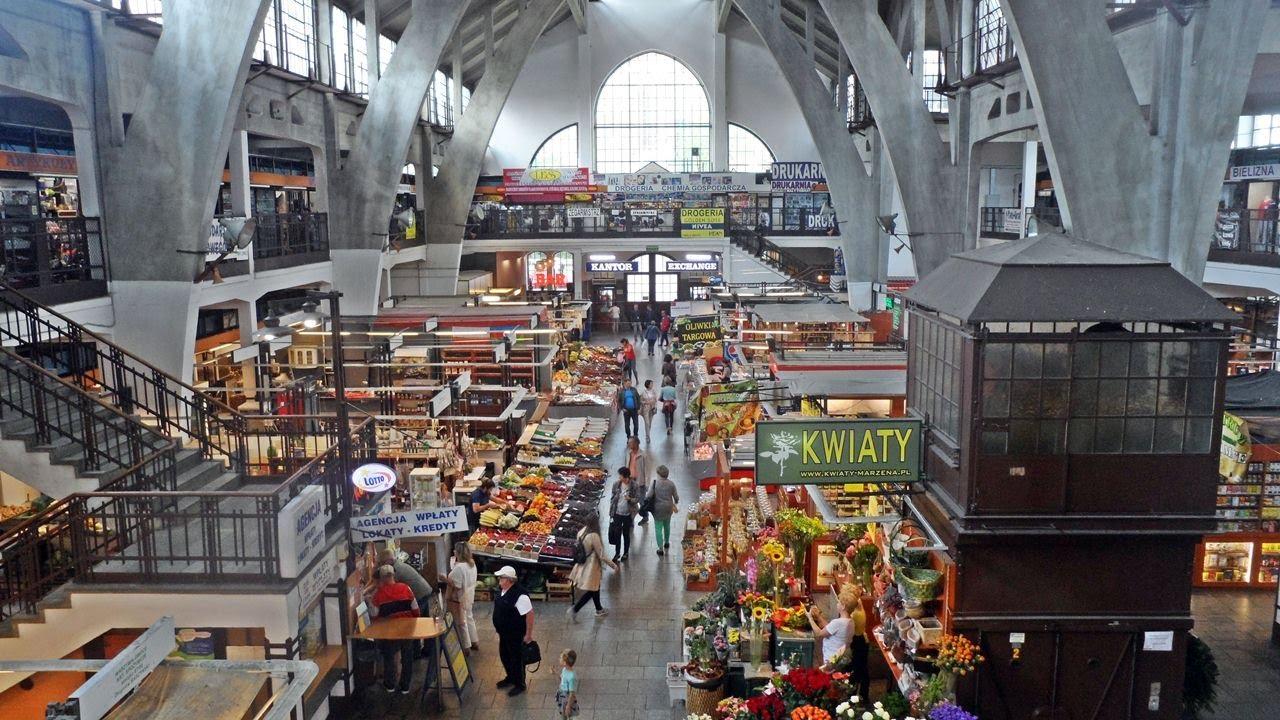 Mercado Principal (Hala Targowa) de Wroclaw na Polónia