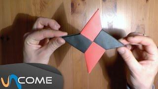 Fare una stella ninja di cartoncino