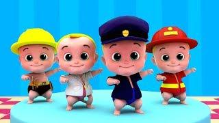 cinco pequenos bebês | saltando rimas para crianças | rima em português | Five Little Babies thumbnail