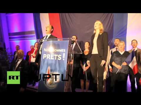 France: Front National celebrate exit poll results in regional elections
