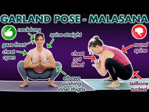 how you can do garland pose malasana in yoga  fitness