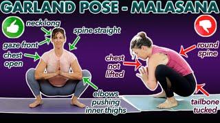 Malasana Pose  - Garland Pose (Yoga Poses Easy)