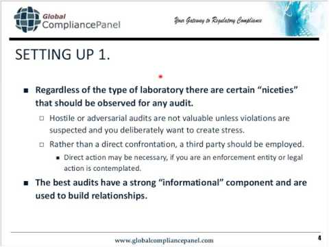 Auditing Analytical Laboratories for FDA Compliance