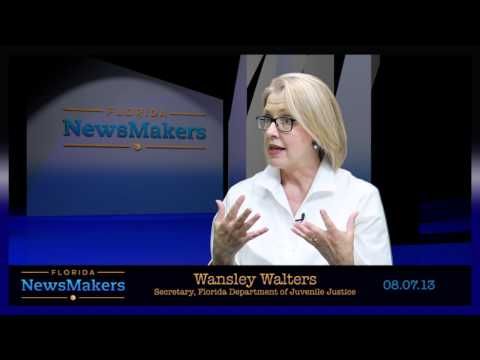 Florida NewsMakers: Secretary Wansley Walters of the Florida Department of Juvenile Justice