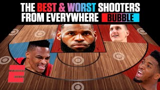 The best and worst shooters in the NBA bubble from everywhere on the floor | NBA on ESPN