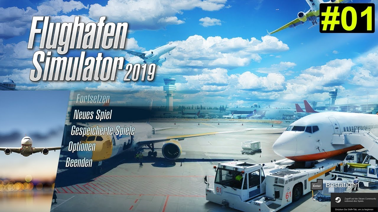 airport simulator 2019 spielstart 01 deutsch german. Black Bedroom Furniture Sets. Home Design Ideas