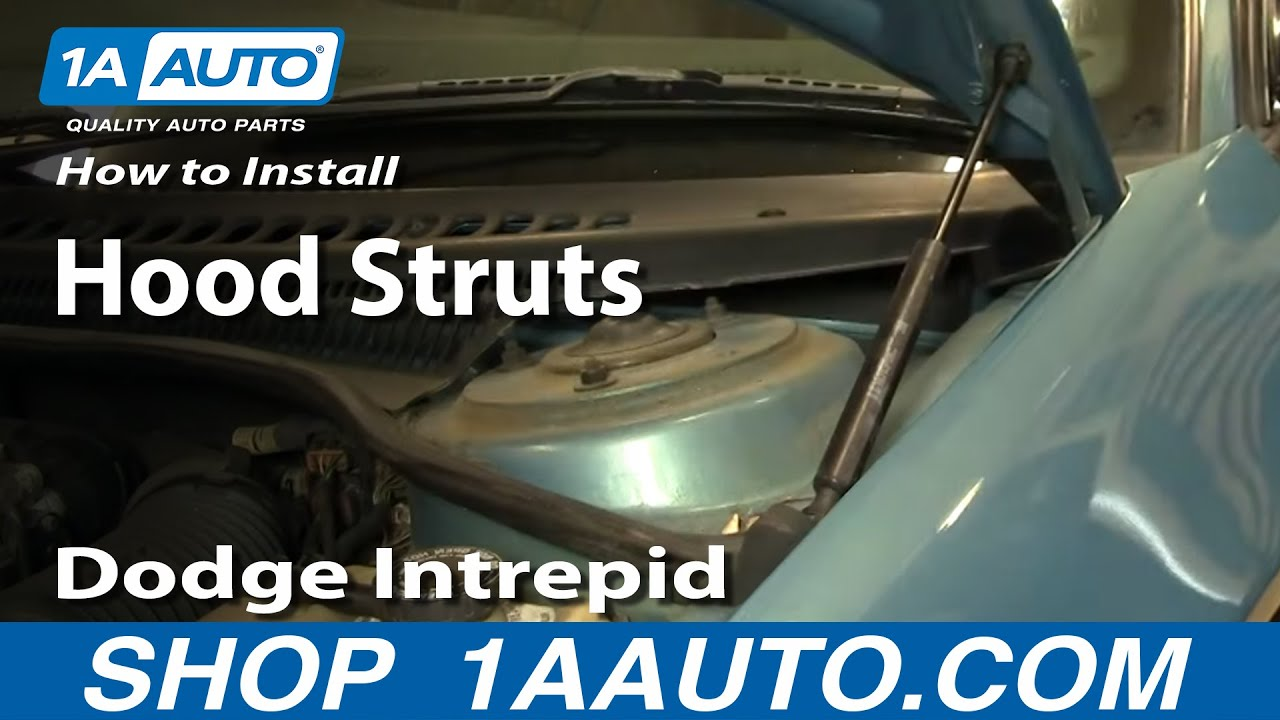 How to install replace sagging hood support strut dodge intrepid 93 97 1aauto com