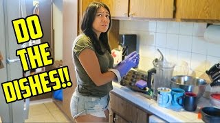 How I tricked her into doing the Dishes!