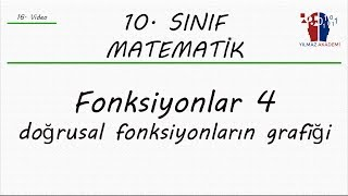 10. SINIF MATEMATİK - FONKSİYONLAR 4 - DOĞRUSAL FONKSİYONUN GRAFİĞİ