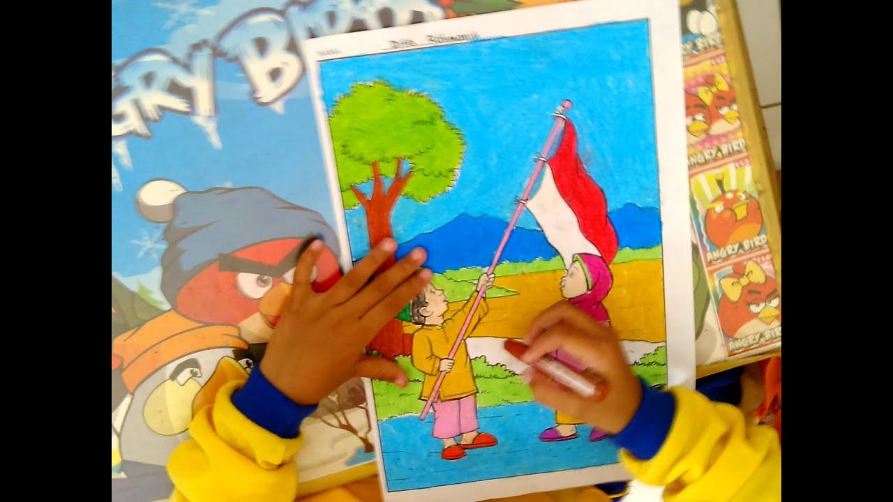 Lomba Mewarnai Peringatan HUT RI 69 di Desa Bajang Mlarak Ponorogo 2014