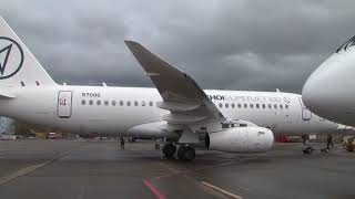 Летные испытания SSJ 100 с законцовками крыла взлёт посадка