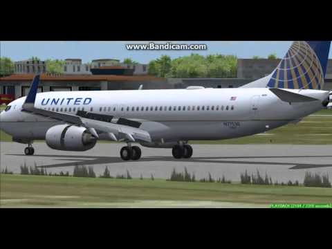United Airlines 737-800 Owen Roberts International Airport Cayman Islands MWCR Landing FS9