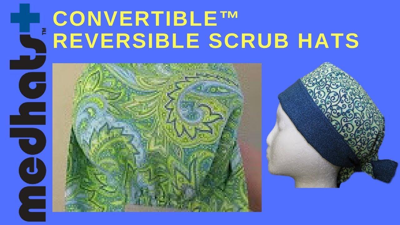 Isabella S Garden Design Convertible Scrub Hat Video At