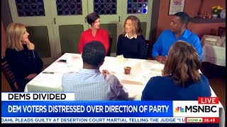 MSNBC Finally Talks to Liberal Voters, Realize They Hate Democratic Establishment