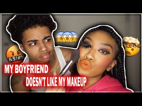 DOING MY MAKEUP HORRIBLY TO SEE MY BOYFRIENDS REACTION!!! thumbnail