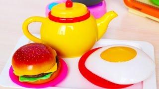 Cooking Toys Cook Kitchen Toy / Видео для Детей: Готовим еду – детский ГАМБУРГЕР(В этом видео для детей мы приготовим на кухне Гамбургер. In this video, we will prepare for the children in the kitchen Hamburger., 2015-12-23T16:17:03.000Z)