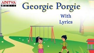 Georgie Porgie with Lyrics    Popular English Nursery Rhymes for Kids