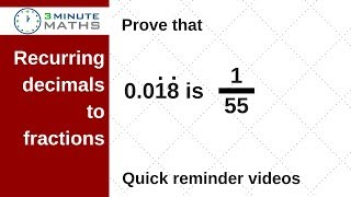 How to convert recurring decimals to fractions - GCSE maths 7+