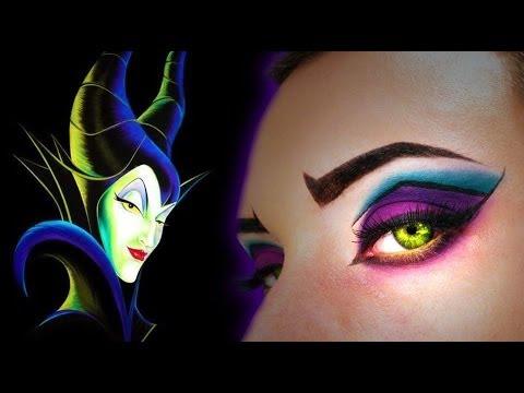 Maleficent Inspired Make Up Tutorial Halloween Makeup