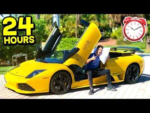 LIVING IN MY LAMBORGHINI CHALLENGE! (With MooseCraft)