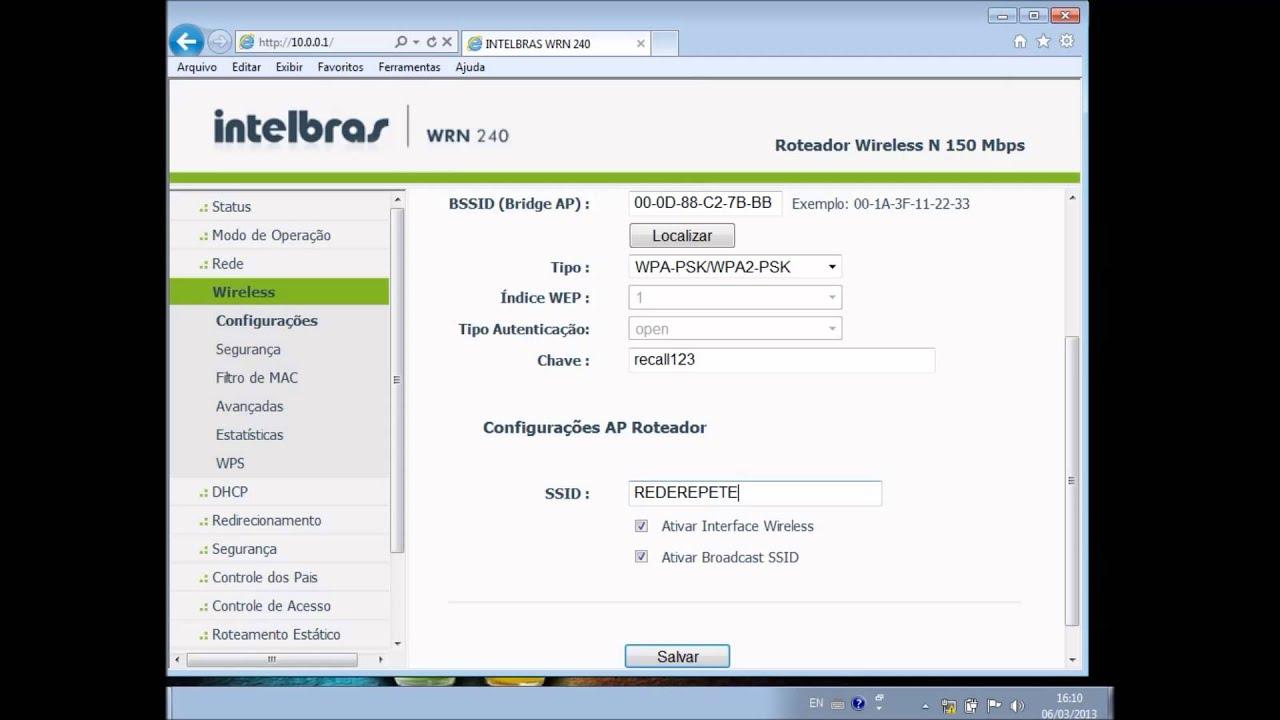 firmware para roteador intelbras win 240