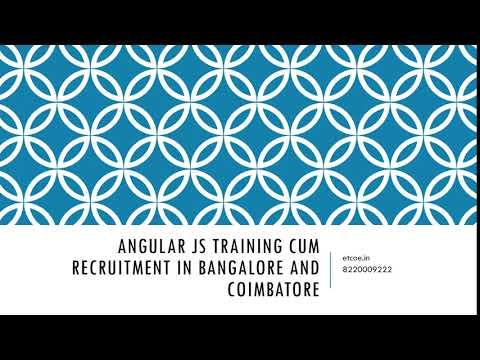 Angular JS Training cum Recruitment in Bangalore and coimbatore-etcoe.in