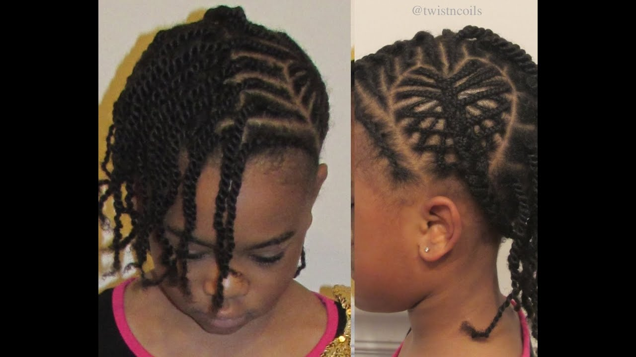 ™� Tnc  25 ™� How To Do A 3d Heart Braid ~ Fun Cute Hairstyles For Little  Girls  Youtube