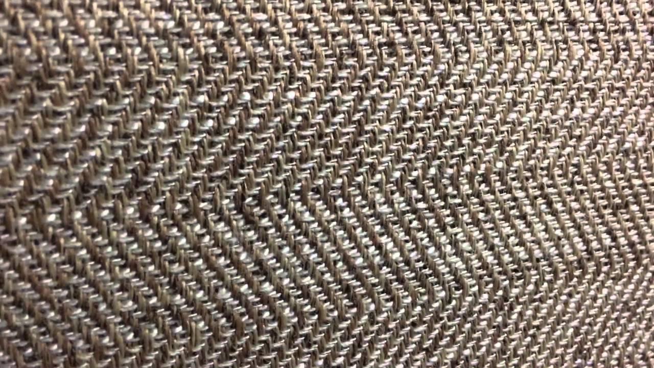 Golden Brown Herringbone Tweed Upholstery Fabric Heavyweight By The