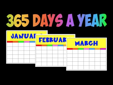 How many days in a year? 365 Days in a Year Song