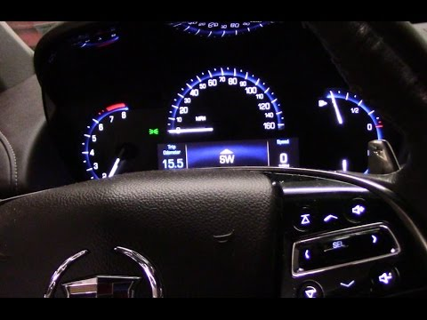 How To Reset The Oil Life Light On A 2013 Cadillac Youtube